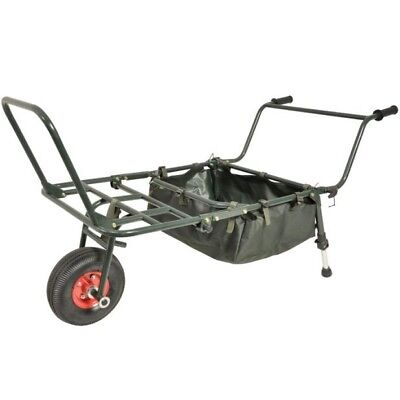 Carp Fishing Barrow Trolley  - Fold Away & Carry Bag with Shoulder Strap