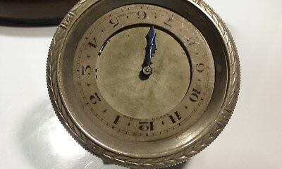 #38 Vintage Used 8 Day Car Clock Parts Repair Replace SteamPunk Craft Art