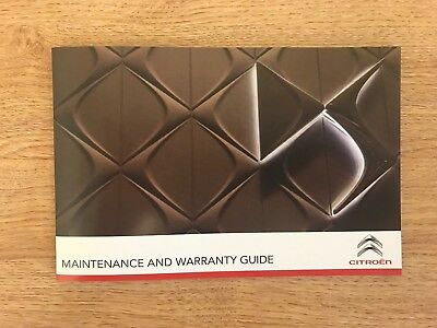 Genuine Citroen Service History And Maintenance Record Book New All Models