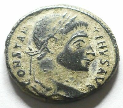 Very Rare Mint Error Ancient Roman Imperial Constantine I The Great Bronze Coin