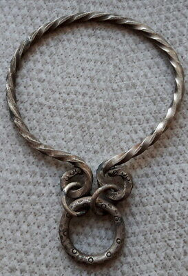 RARE!!! SOLID SILVER VIKING PENDANT WITH AMULETS 7-8 C. AD 60x87mm