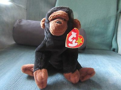 f79c6b759b1 Ty Beanie Baby CONGO 1996 Gorilla w  Tag ERRORS Plush Toy RARE PVC NEW  RETIRED