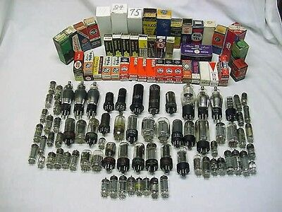 Large Mixed Lot of 110+ Radio Vacuum Tubes ~ Ham Radio ~ Audio ~ Amp ~ TV