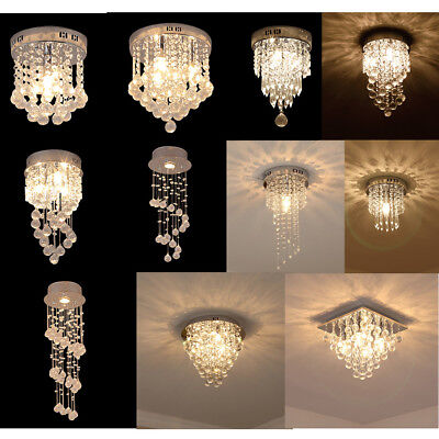 Modern Crystal Ceiling Light Living Room Bar Chandeliers Lamp Fixture Home Decor