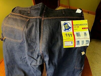 1950's-early 60's Vintage Blue Bell dungarees NEW WITH TAGS 44x30