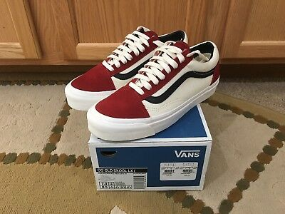 663528a92c0f VANS VAULT OG Old Skool LX Red Dahlia Sz 7 Us Mens -  120.00