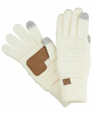 Winter CC Touch Screen Smart Cellphone Finger Tips Warm Soft Knitted Gloves