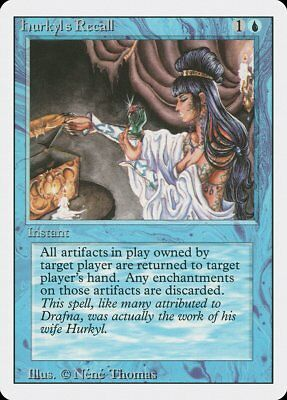 Recall 6th Edition PLD Blue Rare MAGIC THE GATHERING MTG CARD ABUGames