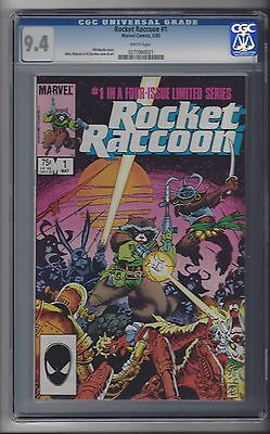 Rocket Raccoon #1 CGC 9.4 White Pages Guardians Of The Galaxy GOTG Marvel 5/85