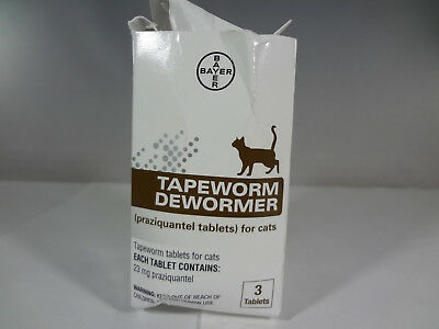 Bayer - Tapeworm Dewormer for Cats - 3 tablets *READ* [EH-B]