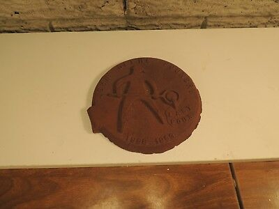 "Vintage Cast Iron JOHN DEERE Foundry Wall Plaque "" Last Pour"""