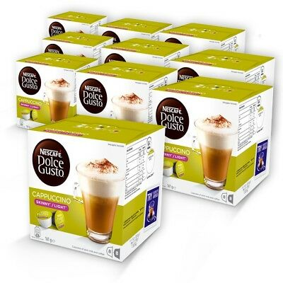BULK NESCAFE Dolce Gusto Skinny Cappuccino 10 boxes 80 Coffee Pods Capsules