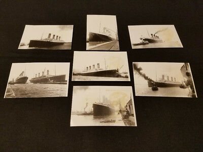 TITANIC PHOTO POST CARDS THAT DOVE TO THE WRECK IN 2005 - Stamped and Signed