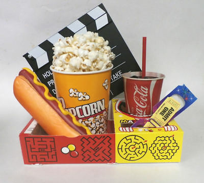 Fake Food Theater Props Drive In Move Snacks W/Clapperboard