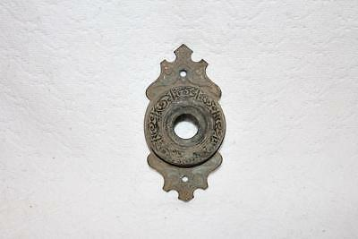 Antique Eastlake Victorian Doorbell Cover Hardware Collectible Cast Iron