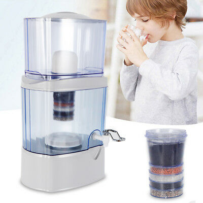 24 L 5 Stage Water Filter Ceramic Carbon Mineral Benchtop Dispenser Purifier Top
