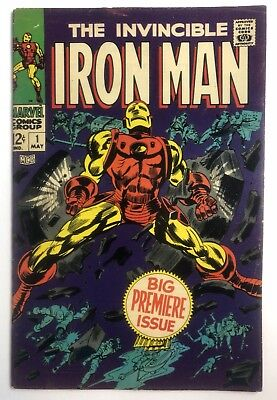 Iron Man #1 (Marvel - 5/68) HIGHER GRADE - 1st self titled issue KEY SILVER AGE
