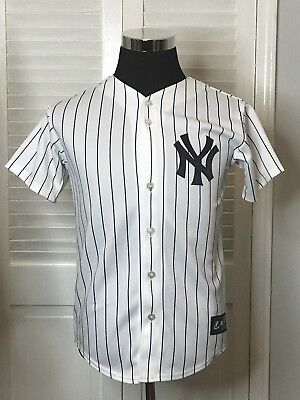 e2f2192fd MLB MAJESTIC NEW York Yankees Youth Boys Button Up Authentic ...
