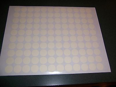 108 OFF WHITE CREAM Blank rummage garage yard sale labels stickers price tags