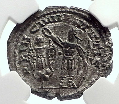VALERIAN II as Caesar Authentic Ancient Roman Coin Antioch TROPHY NGC i72102