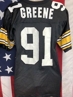 c13341abaab Vintage Russell NFL Pittsburgh Steelers KEVIN GREENE #91 Throwback Jersey  40 M