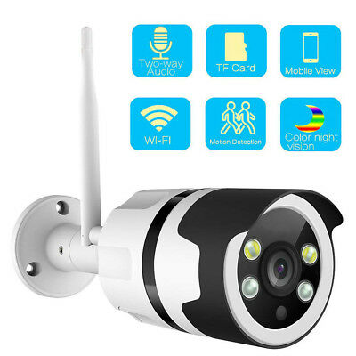 Wifi Two-Way Audio Color Night Vision Outdoor IP Camera 1080P TF Card Slot