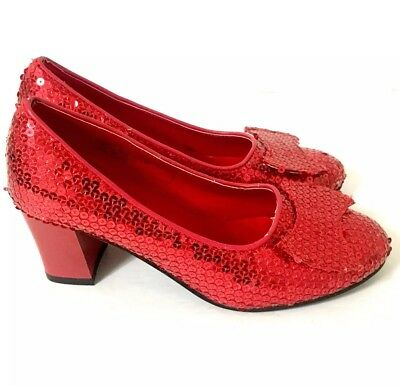 Ruby Red Slippers (Wizard of Oz Rubies Costume Shoes) Medium 7-8 Heels