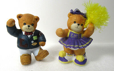 Lucy & Me ~ Cheerleader (Pom Pom) and Jock (Letterman Jacket) Enesco Figurine