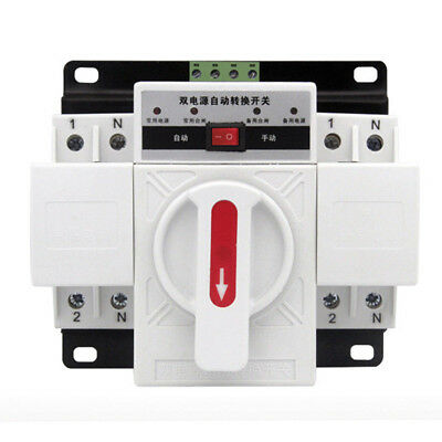 AC230V 2P 63A Dual Power Automatic Transfer Switch ATS Circuit Breakers 50HZ/60