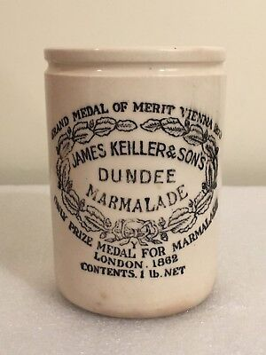 Antique James Keiller & Sons Dundee Marmalade Stoneware Pot Jar Crock England