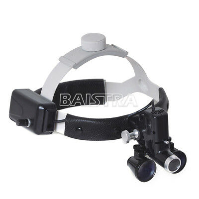 3.5X Medical Dental LED Headlight Headband Binocular Loupes Compound Optics CA