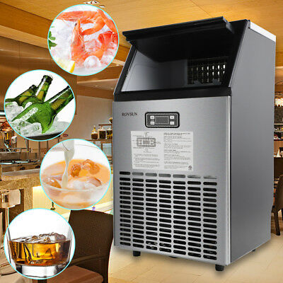 150Lbs Commercial Ice Maker Cube Stainless Steel Bar Restaurant Auto Freezer