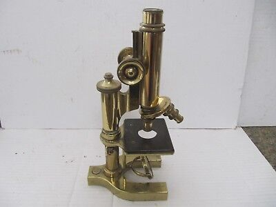 Antique Brass Bausch & Lomb Microscope B & L Optical Co, Aurther H. Thomas Co 15
