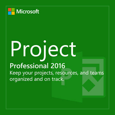 Microsoft Project 2016 Professional Windows 1 PC -  Download & Lifetime Key