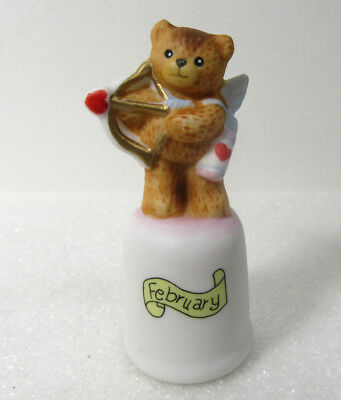 Lucy & Me ~ FEBRUARY ~ Valentine's Day Enesco Thimble Figurine
