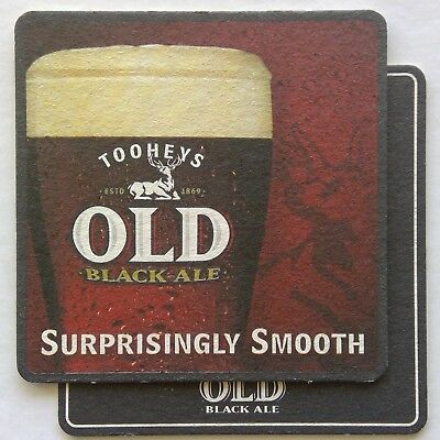 Toohey's Old Black Ale Surprisingly Smooth 2 x Coaster (B344)