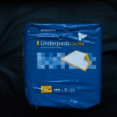 NEW! McKesson Ultra Underpad 30 X 36 Inch Disposable Heavy Absorbency - 20 Pads