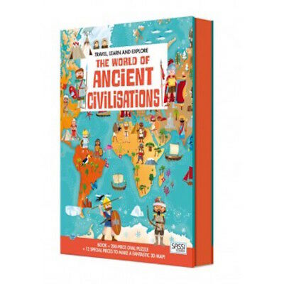 Sassi Travel Learn & Explore - Jigsaw Puzzle - Ancient Civilisations - Age 6+
