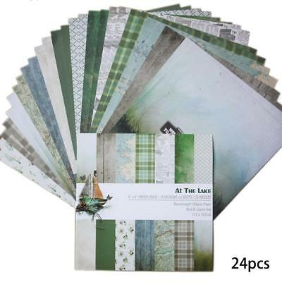 24pcs craft DIY album scrapbooking background paper 6 inch single-sided pattern