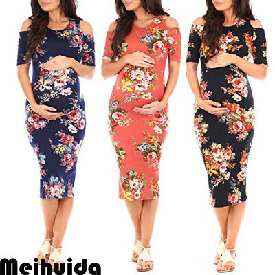 Pregnant Women Summer Floral Maternity Dress Casual Sleeveless Loose Short Dress