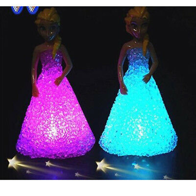 For Girls Kids Toys Doll Christmas Gifts Ice Snow Queen LED Color Changing Dolls