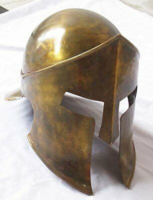 300 Movie Spartan Roman Helmet Medieval King Leonidas Brass Antique Finish