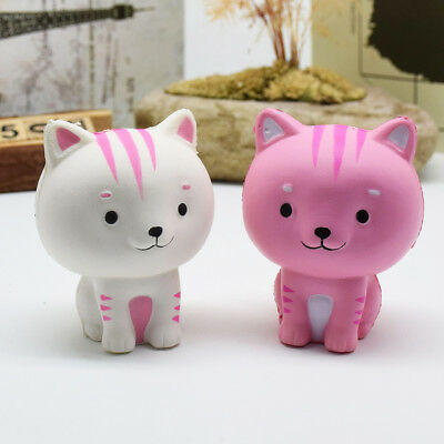 Squishy Cat Slow Rising Charm Stress Relief Toy Charms Kawaii Squeeze Soft Toy
