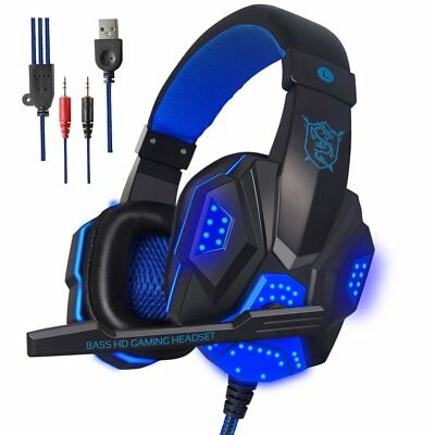 STEREO GAMING HEADSET MIC WITH VOLUME CONTROL FOR PS4 PC black
