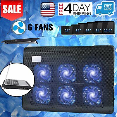 """Laptop Cooling Pad 10-16"""" Gaming Laptop USB Fan Cooler with 6 Fan W/ USB Quite V"""