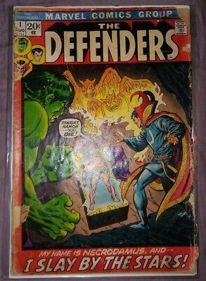 The Defenders #1 (Aug 1972, Marvel), 1st Print. Good (G) condition..