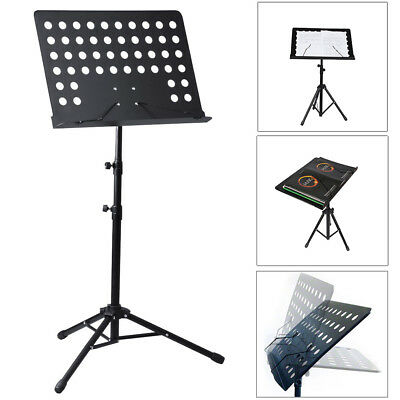 Pro On-Stage Music Sheet Stand Lecture Notes Lecturn Tripod Holder Angle Adjust