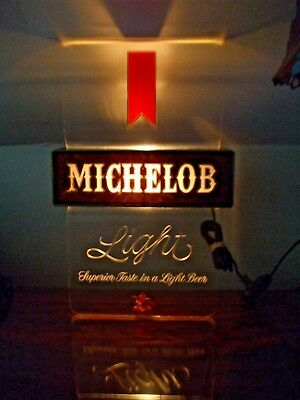 Vintage 1970's Michelob Light - (Working) Lighted Tavern - Bar Wall Sign