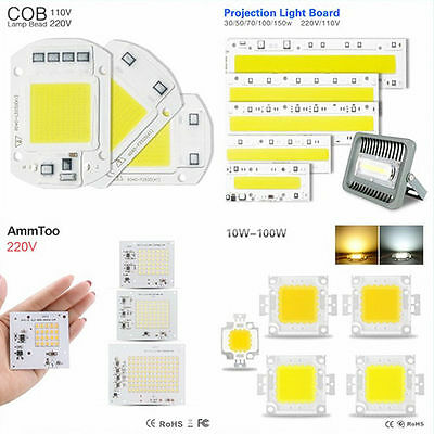 10-150W LED Floodlight COB Chip 110V 220V High Power SMD LED Chip Lamp Bulb Bead