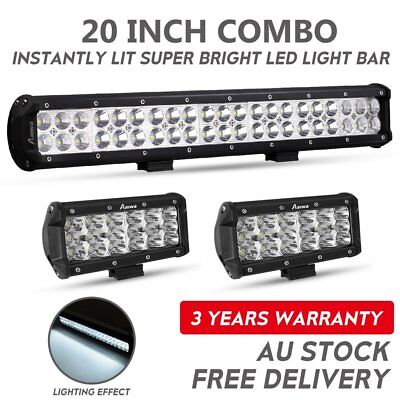 20inch +7'' Philips LED Light Bar Spot Flood Offroad Driving Work 4x4 Truck 23""
